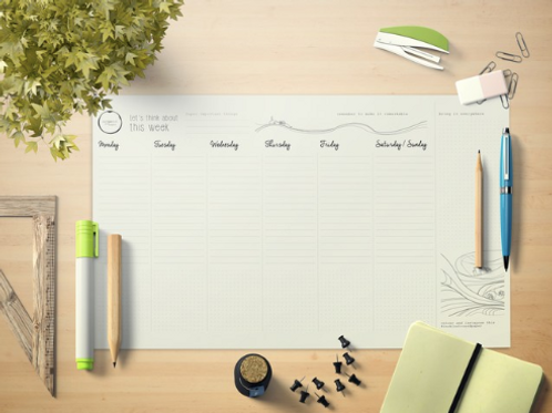 DESK PLANNER Work from Home • inchiostro and paper