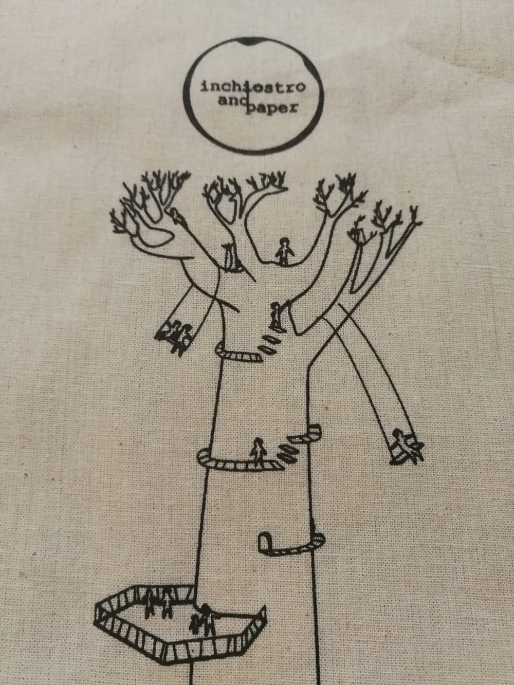 design shopper bag natural cotton canvas