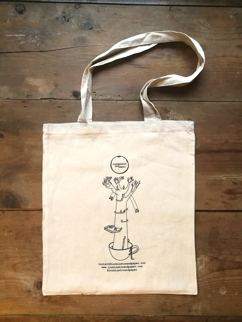 borsa in cotone naturale shopper bags made in Italy