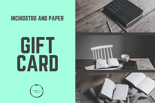 Gift Card 50€  - inchiostro and paper