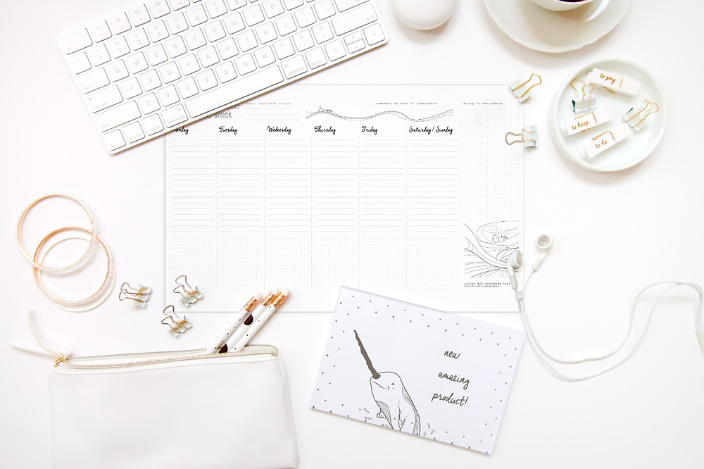 desk planner, planner 2019, planner 2020, undated planner, calendario da scrivania