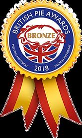 2018 British Pie Awards Bronze Medal