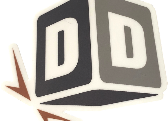 Die Cut Sticker: DiscDice Logo Mark
