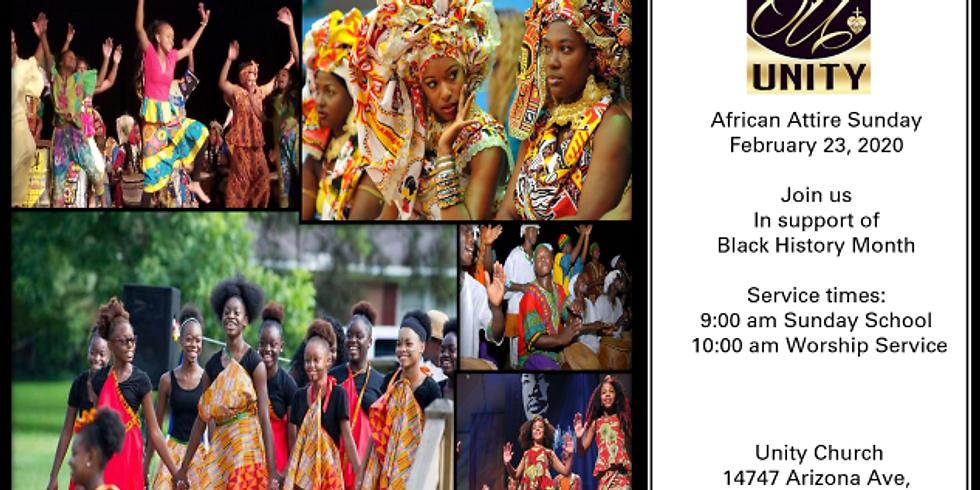 Unity African Attire Sunday