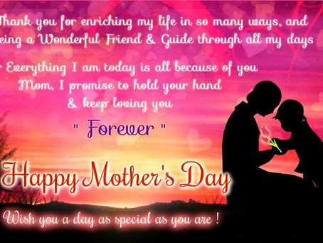 Happy Mother's Day.......