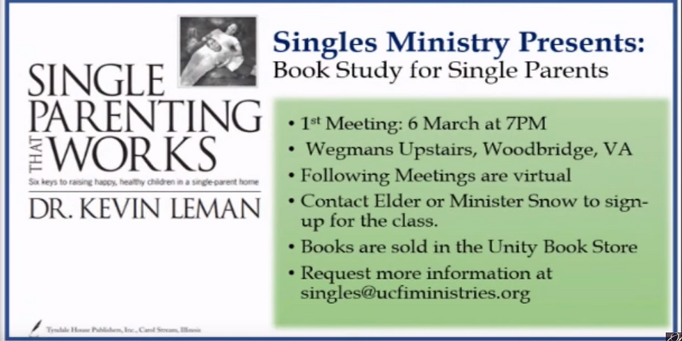 Book Study for Single Parents