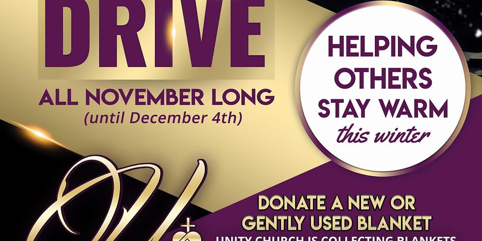 Unity Church Blanket Drive (ALL November Long)