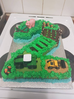 2 Tractor Cake