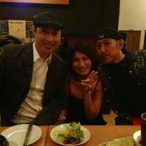 大須賀ひできさん、ギター玉木孝司さんと終演後
