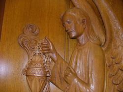 Détail de l'ange à l'encensoir