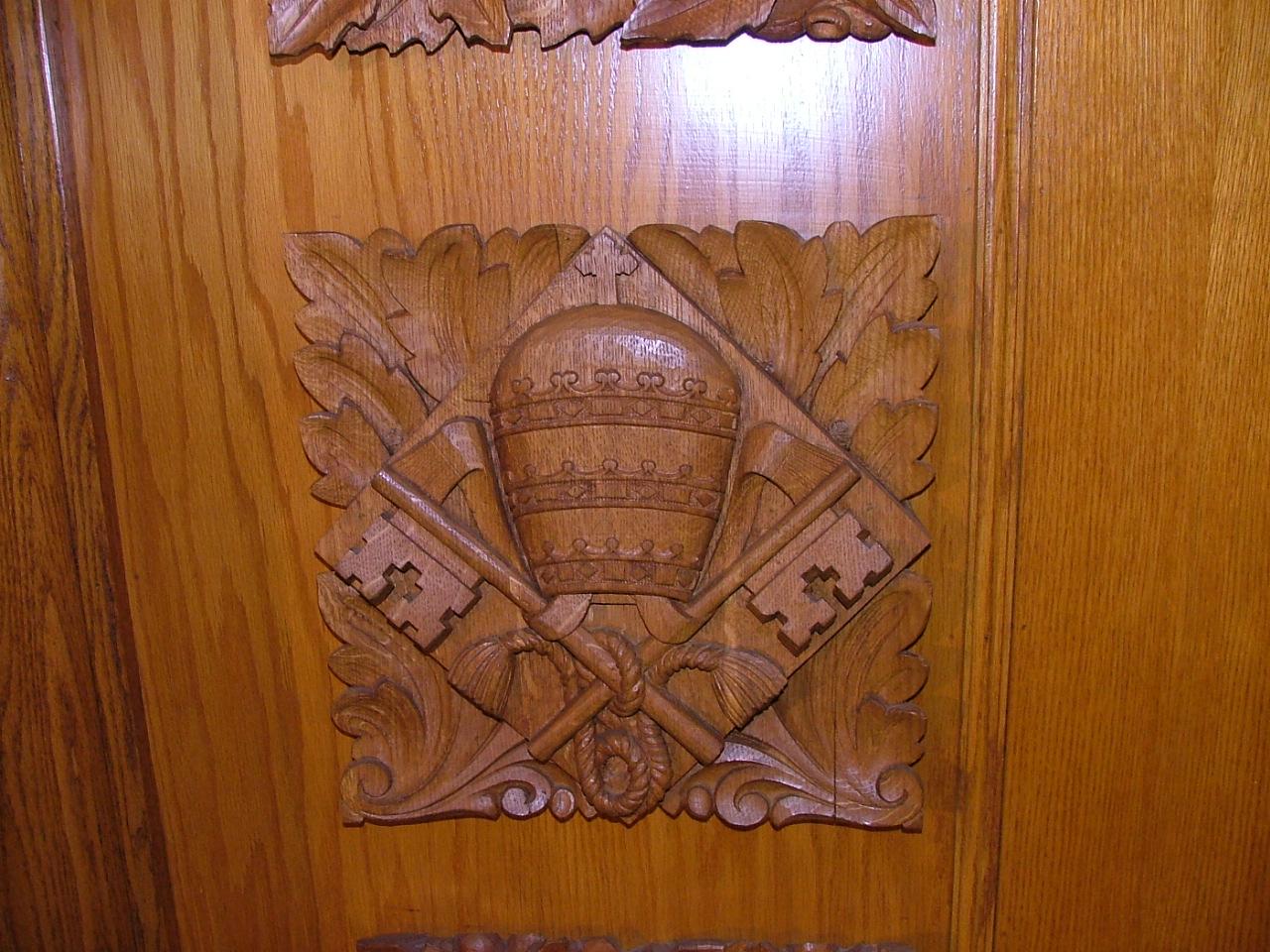 La tiare du pape et les clefs