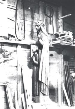 Jeanne d'Aza et son fils Dominique.