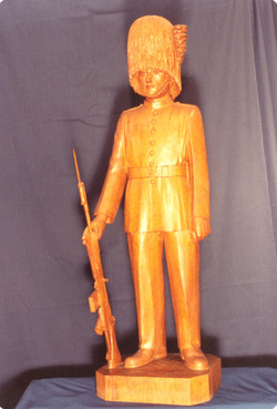 Soldat en tenue de garde