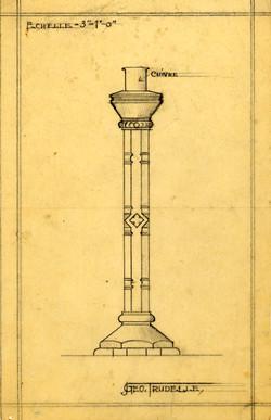 Dessin technique de chandelier