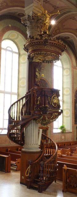Chaire de l'église de Saint-Romuald