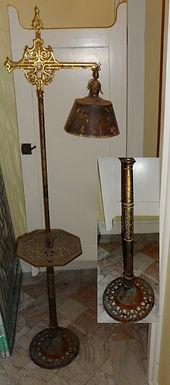 Bridge Floor Lamp With Brass Shade