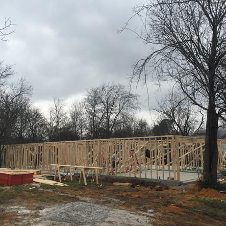 Ave G New Construction 2019 - Initial Framing