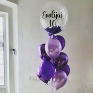 Spalviņu balons un 9 balonu komplekts