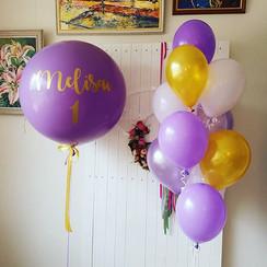 Ceriņu krāsas baloni