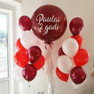 Lielais balonu komplekts ar 2 pušķiem