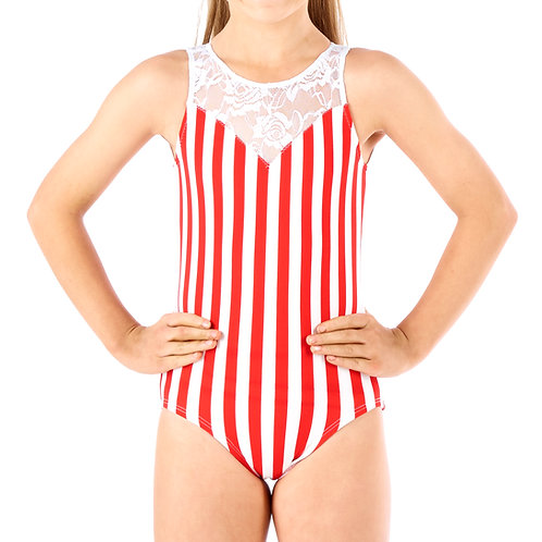 SNAZZY STRIPES - Red/White