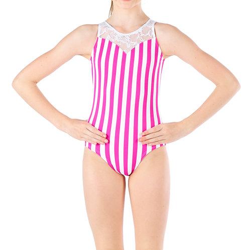 Snazzy Stripes Leo - Pink/White