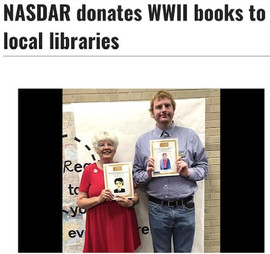 NASDAR donates WWII books to local libraries