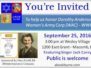 Help us Honor Dorothy Anderson