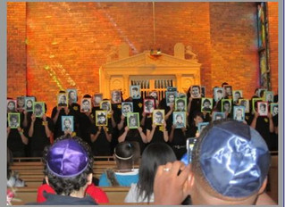 A BOOK by ME at Joliet Jewish Congregation's Holocaust Memorial Service