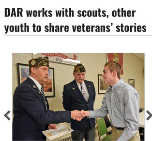 DAR works with scouts, other youth to share veterans' stories