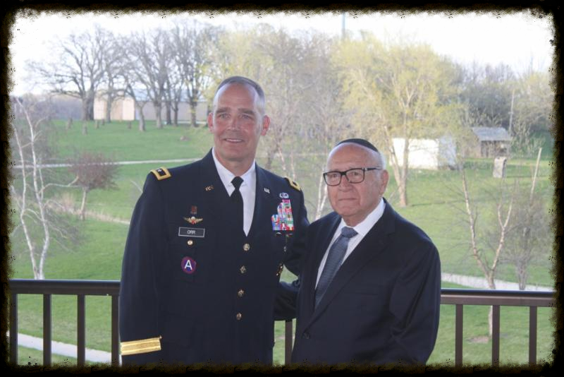Major General Timothy Orr of the Iowa National Guard  and David Wolnerman