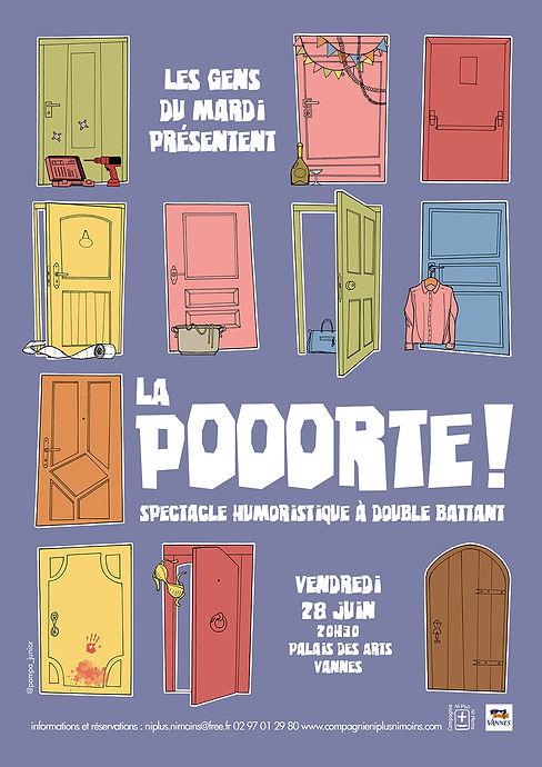 La Pooorte! compagnie théâtre ni plus ni moins Vannes 56 palais des arts pierre cesca pedro junior illustrations