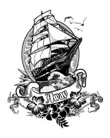 Un tatoo pour un surfeur au sommet de la vague !