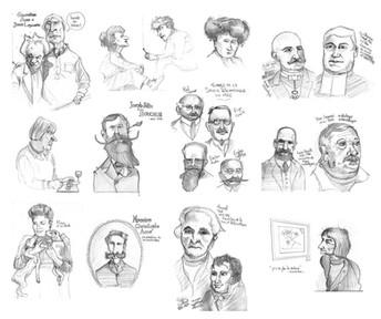 Portraits d'artistes et de savants - Musée de la Cohue, Vannes