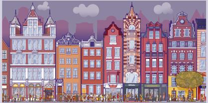 Illustration de ville imaginaire