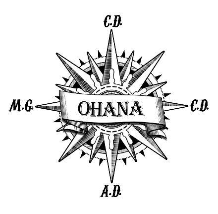 tatouage surfeur points cardinaux ohana Saint Gilles Croix de Vie