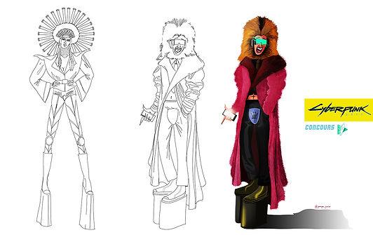 concours digital painting school cyberpunk 2077