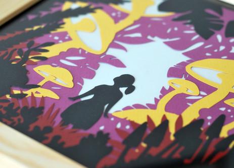 Illustration phosphorescente La Forêt des Limbes