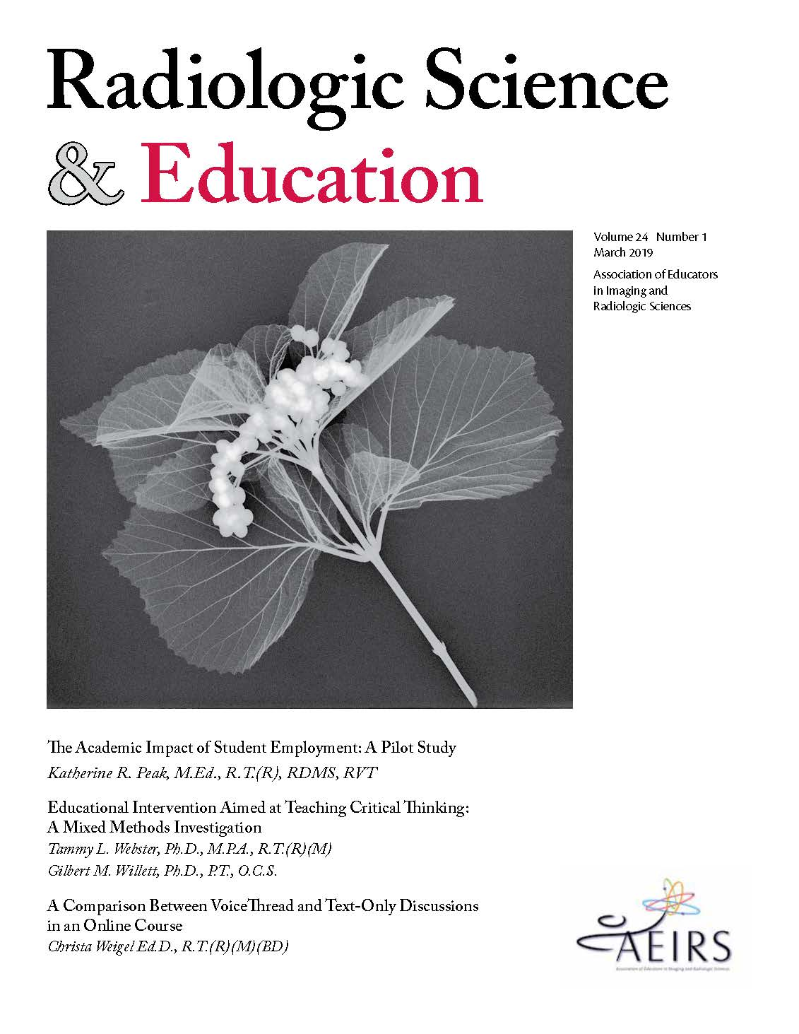Radiologic Science and Education, Volume