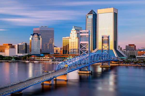 Jacksonville, Florida, USA downtown city