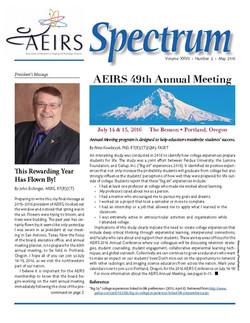 Spectrum, Volume 27 Number 2, May 2016