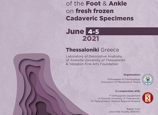 [New dates]1st Seminar on tendon transfers and ligament reconstruction of the Foot and Ankle on fres