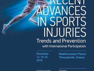 1st Congress «Recent advances in Sports Injuries: Trends and Prevention»