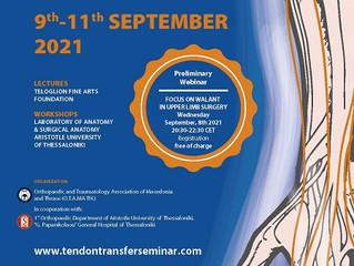6th Seminar on tendon transfers of the upper limb on fresh frozen cadaveric specimens
