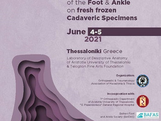 1st  Seminar on tendon transfers and ligament reconstruction of the Foot and Ankle on fresh frozen C
