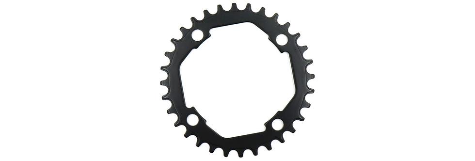 Narrow wide bike chainring 104BCD