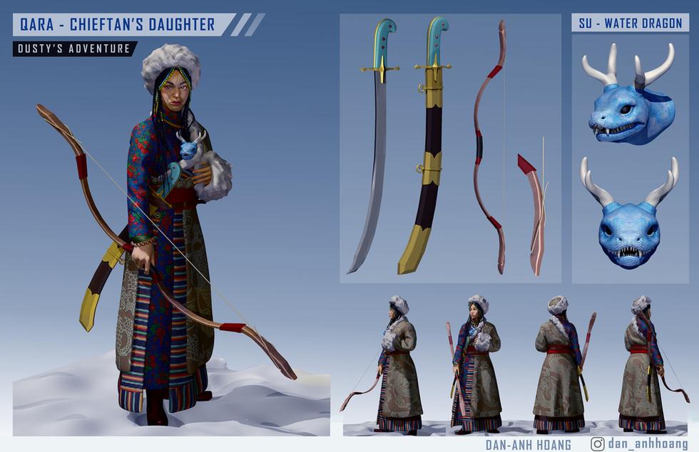 Dusty's Adventure - Qara Character Model