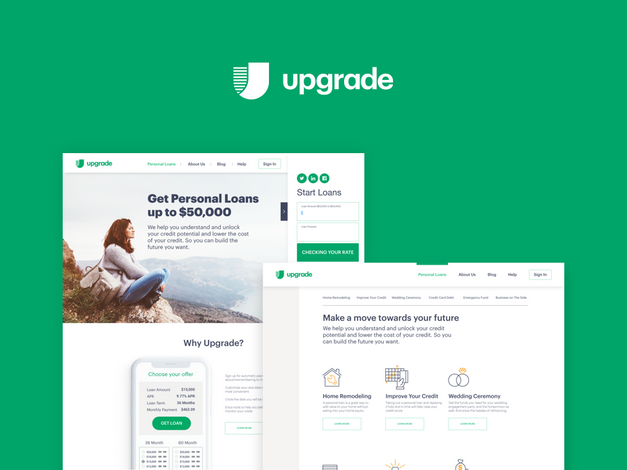 Upgrade Homepage Redesign