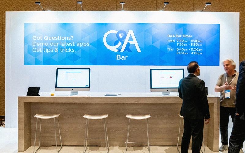 QSC 2018 Q&A bar