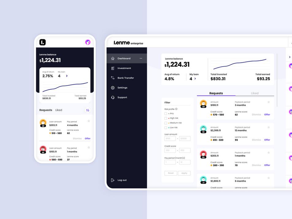Lenme Enterprise Web Platform